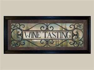 Wine tasting sign.