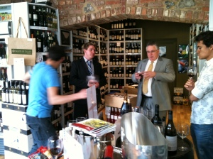 North & South Wine owner, Marco, comes flashing into view.