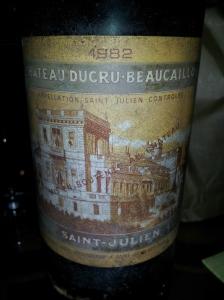 Chateau Ducru Beaucaillou Saint Julien 1982
