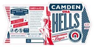 Camden Town brewery Hells label