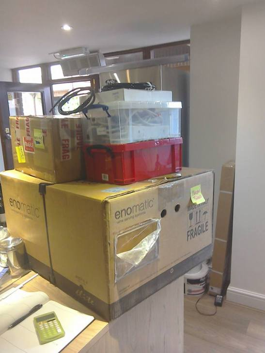 Enomatic boxed and ready to be unpacked.